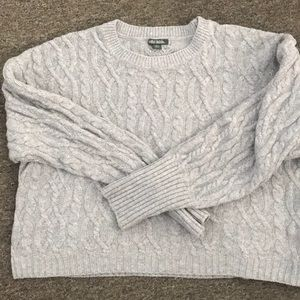 Wild fable grey cropped sweater